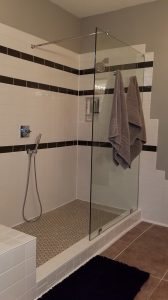 Fixed Panel Glass Showers